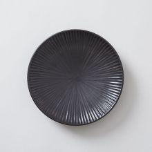 向山窯×TODAY'S SPECIAL SHINOGI PLATE 黒田釉 黒 大