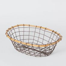 ラタントップ オーバルワイヤーバスケット M