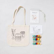 刺繍トートバッグキット BURGER / Giiton