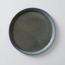 向山窯×TODAY'S SPECIAL FLAT PLATE 9寸 黒田釉