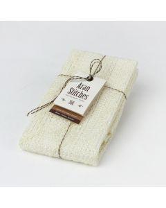 天然素材を編み上げた アランステッチボディタオル シルク