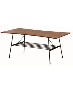 特徴のある天板デザインがスタイリッシュなセンターテーブルです。
