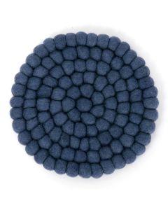 ウールトリベット(鍋敷き) ブルー