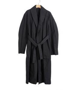 LEMAIRE Tie Maxi Coat / Black / 34