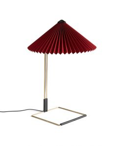 MATIN TABLE LAMP  / Oxied Red