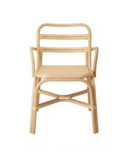 SR side chair arm Natural /TOU