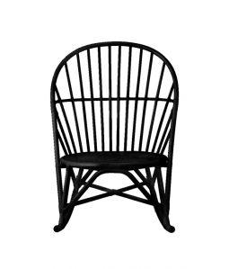 WR lounge rocking chair Black /TOU