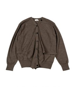 LEMAIRE Cardigan sweater / Brown / S