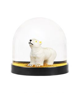 Wonderball polar bear / gold glitter