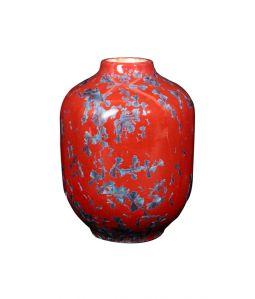 CRYSTALLINE VASE Small  Red x Blue /Milan Pekar