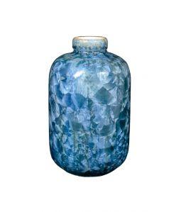 CRYSTALLINE VASE Small  Blue  /Milan Pekar