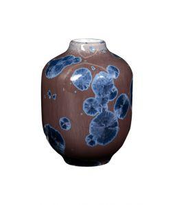 CRYSTALLINE Vase Small Brown × Blue /Milan Pekar