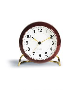 Arne Jacobsen Table clock / Burgandy