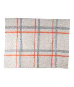 Shetland x Alpaca Brushed Blanket / Grey