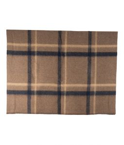 Shetland x Alpaca Brushed Blanket / Brown