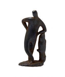 """Human Sculpture """"leaning on treestump"""""""