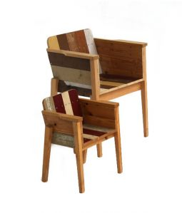 Child's scrapwood arm chair
