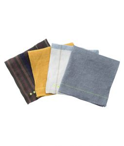 loomer × CIBONE Reproduct Handkerchief/2.STRIPE(WH×BL)