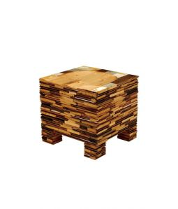 SCRAPWOOD PILING STOOL