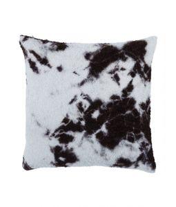 Hand Woven Boucl Cushion Cover Madara Shibori/ブラック