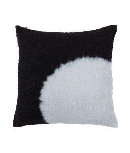Hand Woven Boucl Cushion Cover Boushi Shibori/ブラック