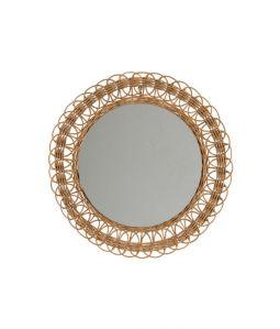 Vintage Rattan Mirror - A