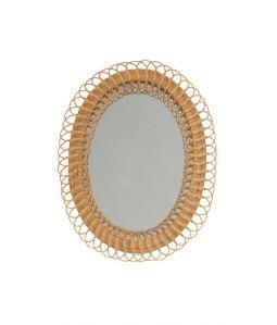 Vintage Rattan Mirror - B