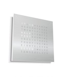 QLOCKTWO CLASSIC STAINLESS STEEL