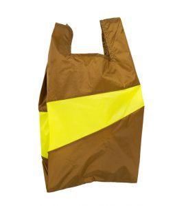Shopping Bag L /Make & Fluo Yellow /SUSAN BIJL