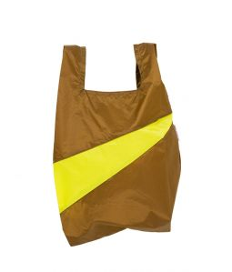 Shopping Bag M /Make & Fluo Yellow /SUSAN BIJL