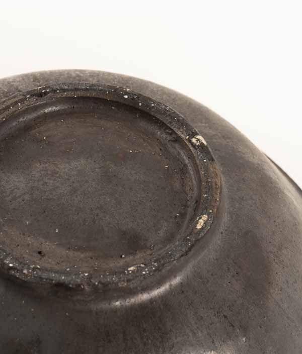 小野象平 黒志野釉 大平鉢