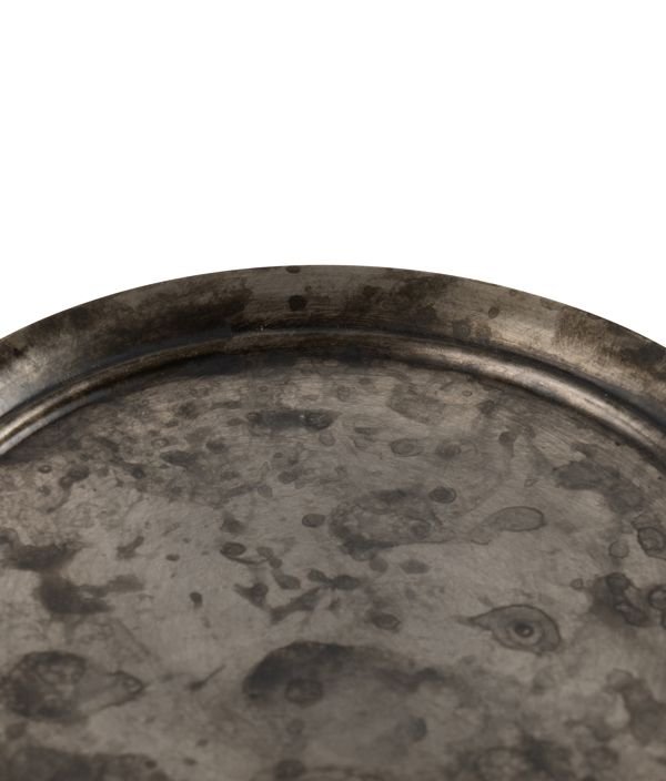 ヘラ絞りのアルミコースター / 黒ムラ