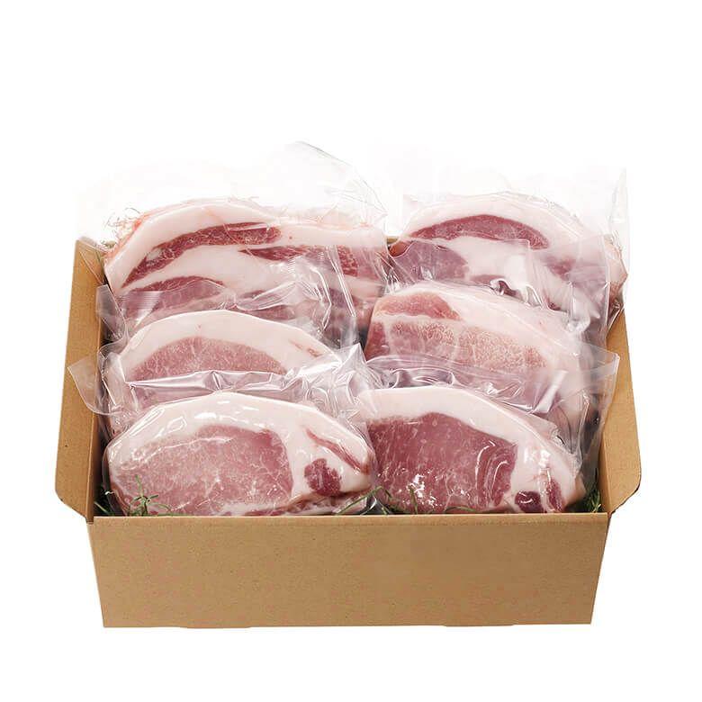 <産地直送・冷凍便> ふくどめ小牧場 サドルバックロースとんてき×幸福豚ロースとんてき精肉セット