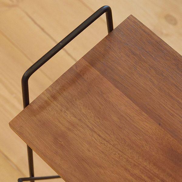 アカシアサイドテーブル アンティークゴールド