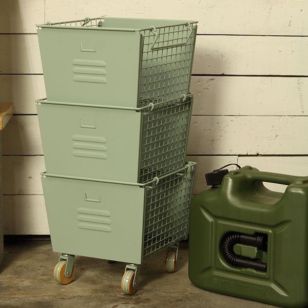 LIV スタッキングボックス 3個セット グリーン