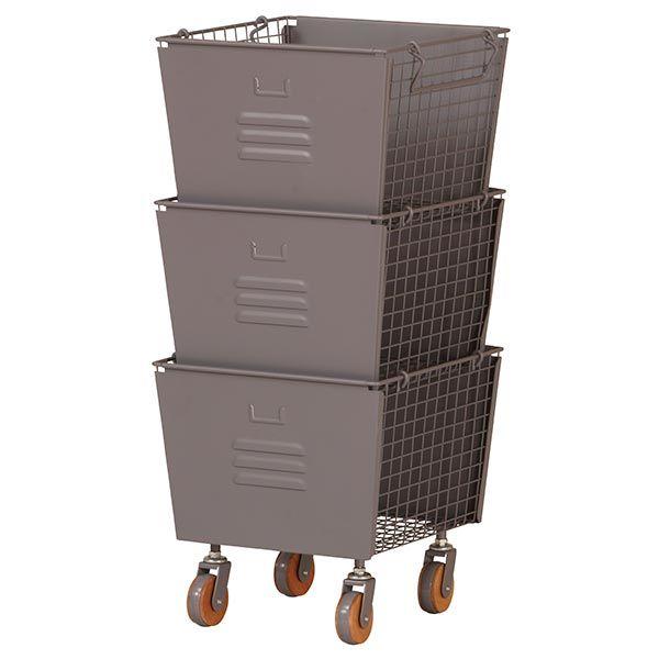 LIV スタッキングボックス 3個セット グレー