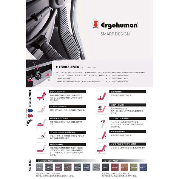 【オンライン限定】Ergohuman ベーシック ロータイプ メッシュ ブラック