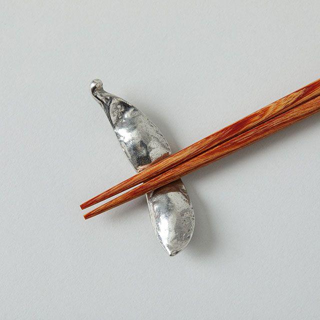 錫の箸置き 枝豆