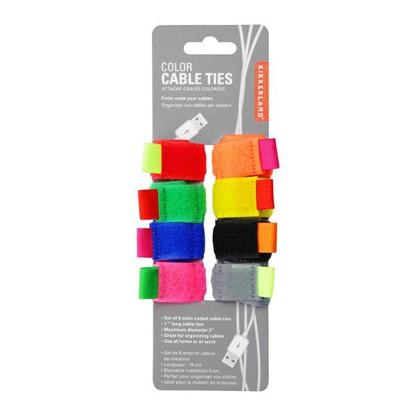 カラーケーブルタイ 8点セット / COLOR CABLE TIES set of 8