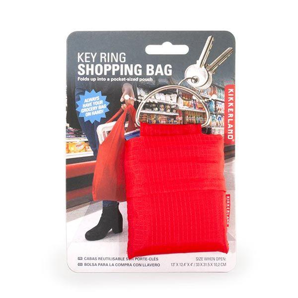 キーリング ショッピングバッグ レッド