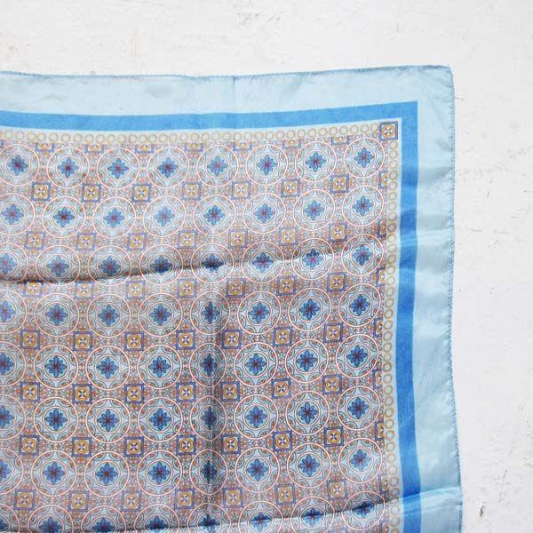 FOULARD シルク100%スカーフ サックス