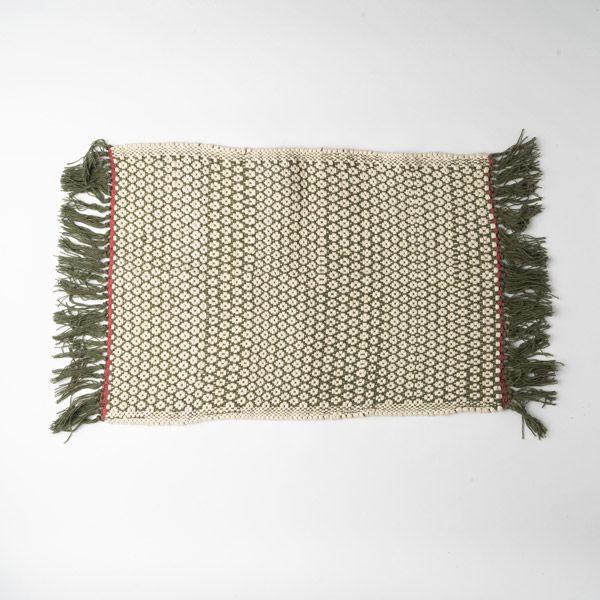Knit Dobby コーナーマット 45×60 カーキ