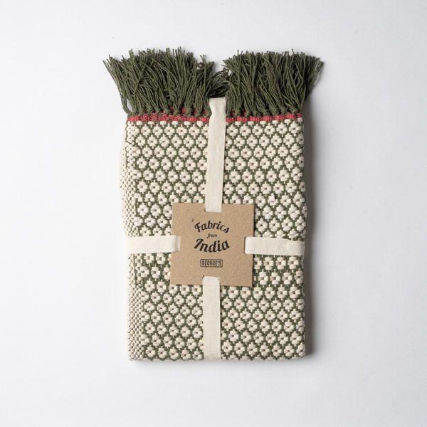 Knit Dobby ハーフラグ 90×130 カーキ