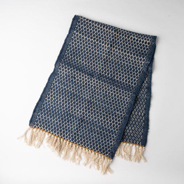 Knit Dobby キッチンマット 45×120 ネイビー