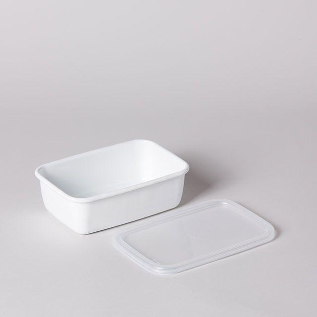 ホワイトシリーズ レクタングル深型 M / 野田琺瑯