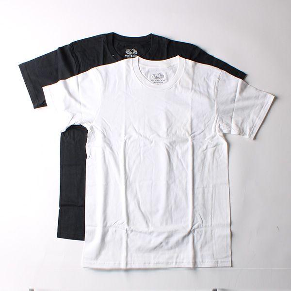 FRUIT OF THE LOOM メンズTシャツ 2Pセット M ホワイト×ネイビー