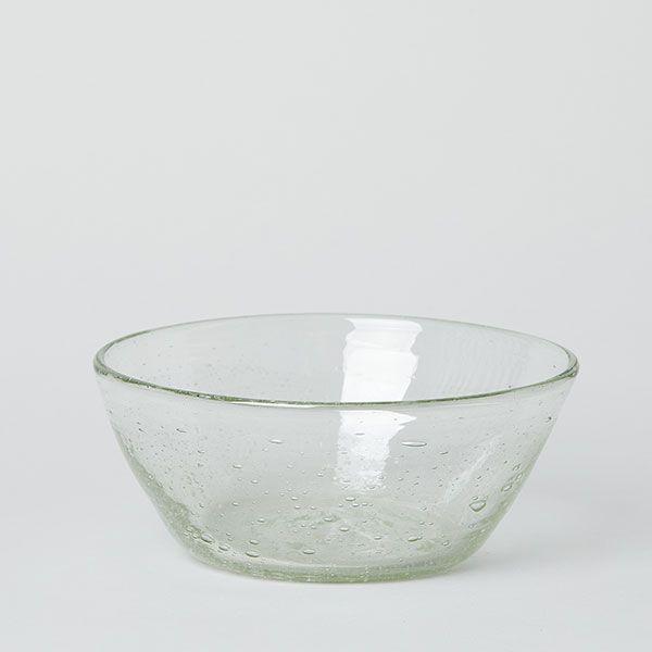 ガラス工房 清天 底泡入り 中鉢