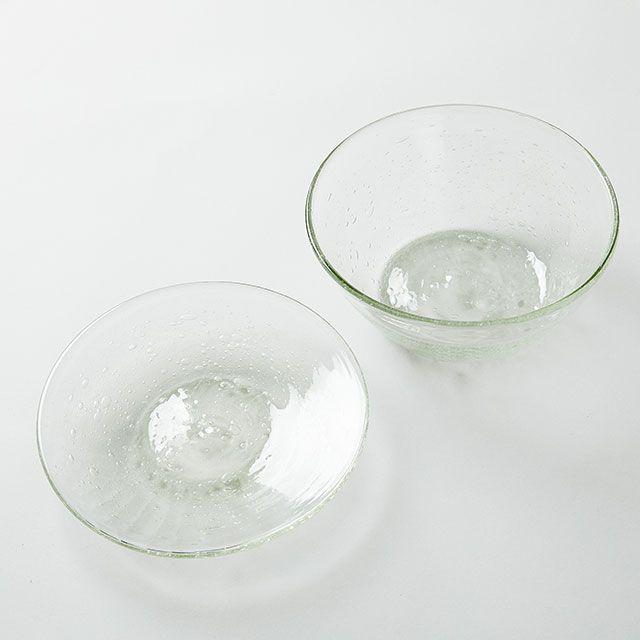 ガラス工房 清天 底泡入り 7寸皿