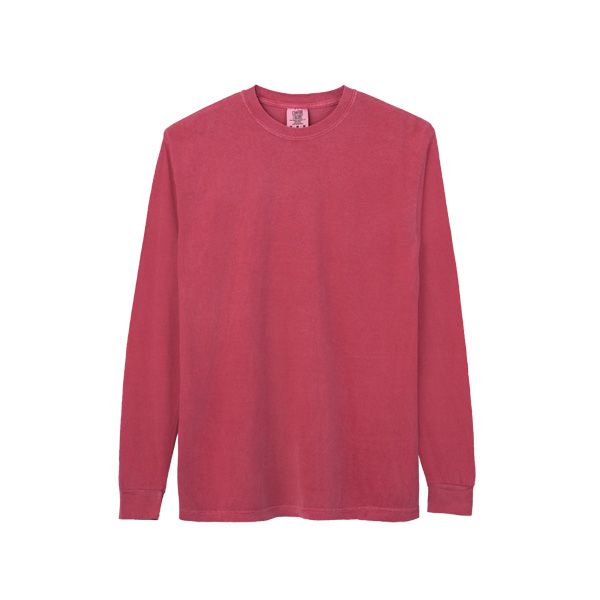 Comfort Colors アダルトリングスパン ロングスリーブTシャツ S クリムゾン