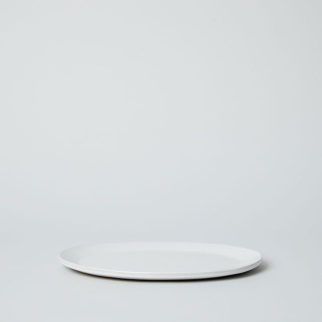 OVAL PLATE M ホワイト / 向山窯×TODAY'S SPECIAL